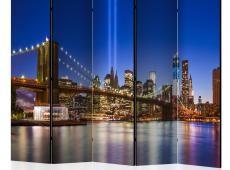 Paraván - Blue New York II [Room Dividers]